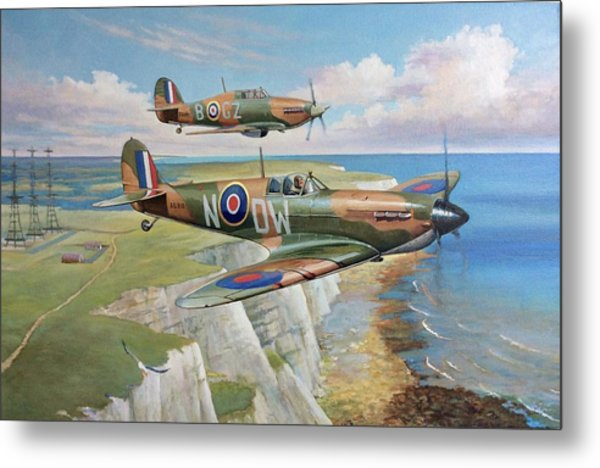 Spitfire And Hurricane 1940 Metal Print