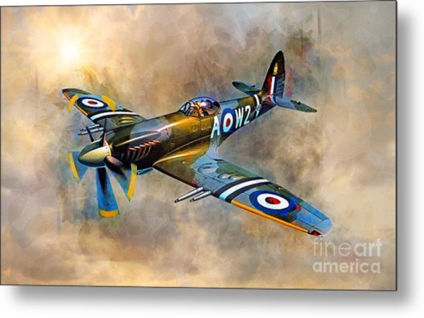 Spitfire Dawn Flight Metal Print