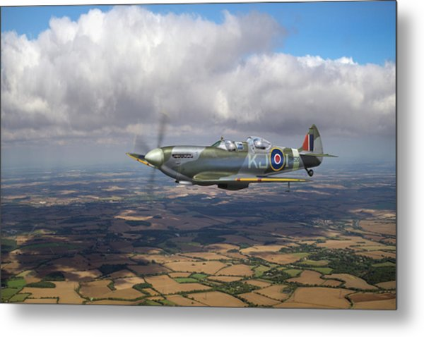 Metal Print featuring the photograph Spitfire Tr 9 Sm520 by Gary Eason
