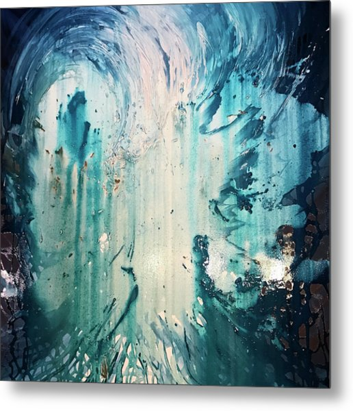 Metal Print featuring the painting Splash by Michelle Pier