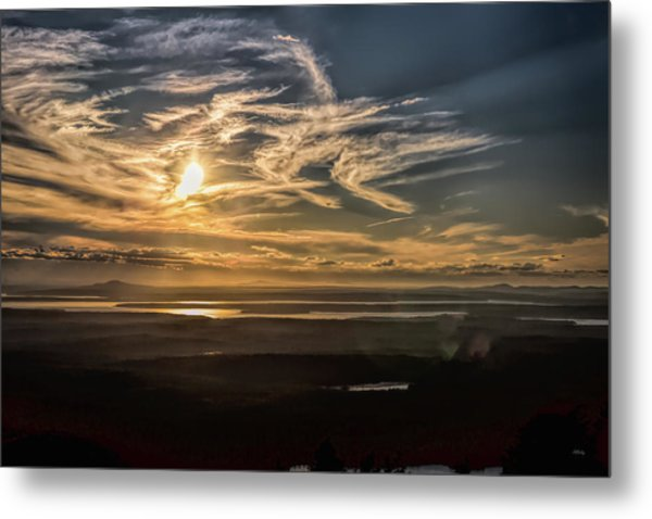 Metal Print featuring the photograph Splendorous Sunset by John M Bailey