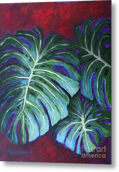 Split Leaf Philodendron Metal Print