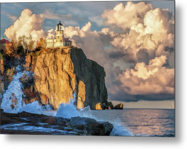 Metal Print featuring the painting Split Rock Lighthouse by Christopher Arndt