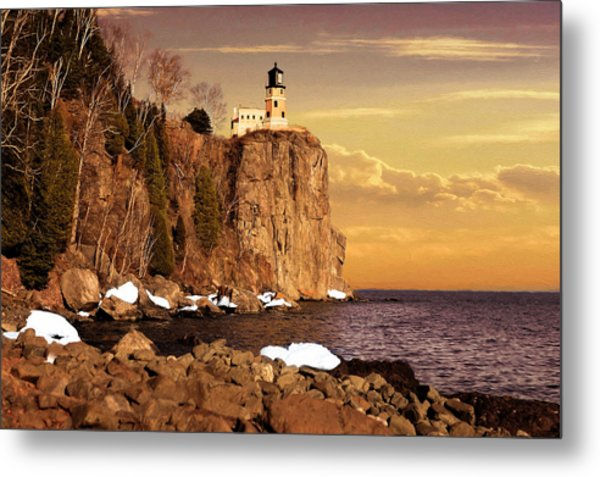 Metal Print featuring the photograph Split Rock Lighthouse by Susan Rissi Tregoning