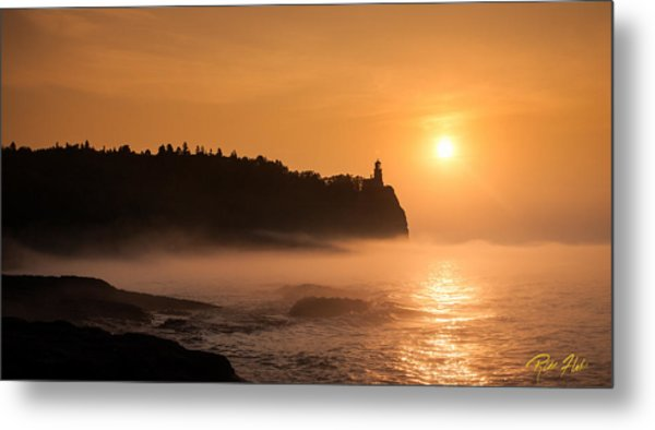 Split Rock's Morning Glow Metal Print