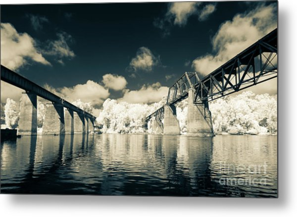 Congaree Trestles Cayce, Sc Metal Print