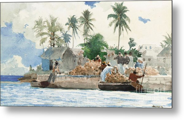 Sponge Fisherman In The Bahama Metal Print