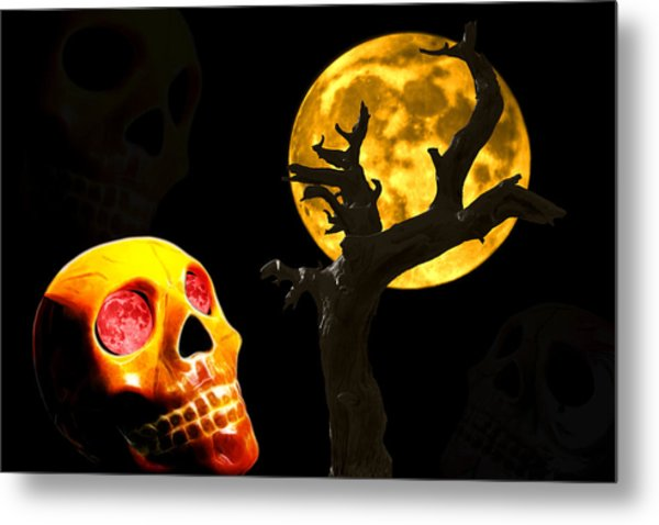 Spooky Night Metal Print