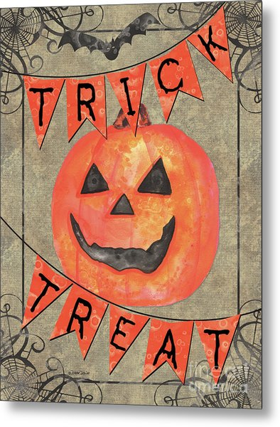 Spooky Pumpkin 1 Metal Print