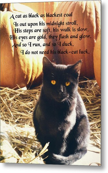 Spooky Quote Metal Print by JAMART Photography