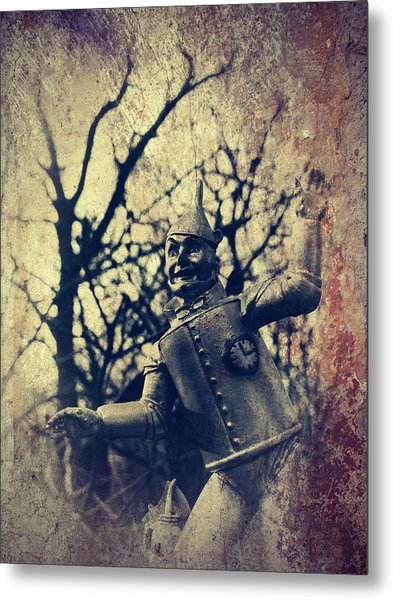 Spooky Tin Man Wizard Of Oz Metal Print