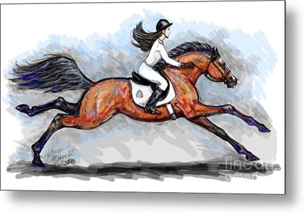 Sport Horse Rider Metal Print