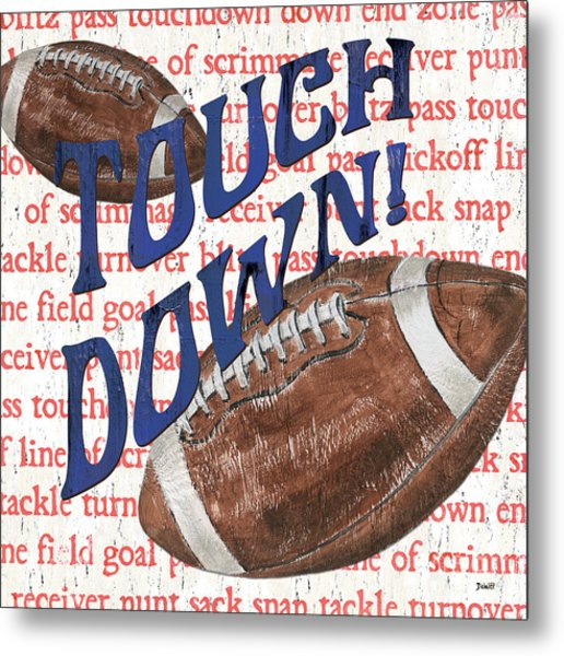 Sports Fan Football Metal Print