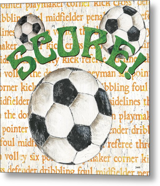 Sports Fan Soccer Metal Print