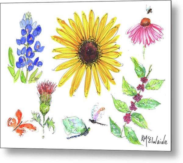 Spring 2017 Medley Watercolor Art By Kmcelwaine Metal Print