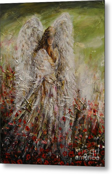 Spring Angel Metal Print