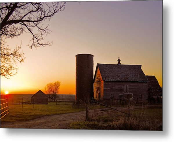 Spring At Birch Barn 2 Metal Print