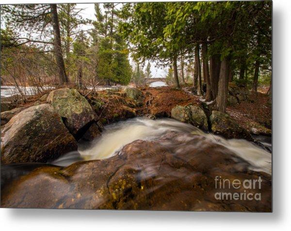 Spring At Bog River Falls Metal Print