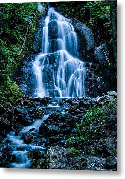 Spring At Moss Glen Falls Metal Print