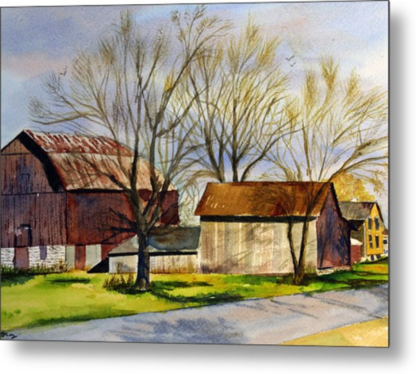 Spring At The Farm Metal Print by Tina Storey