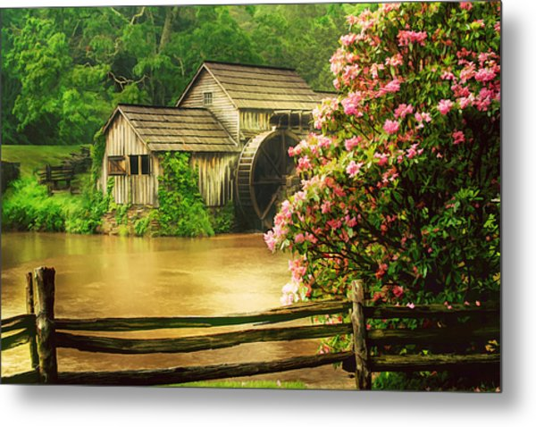 Spring At The Mill Metal Print