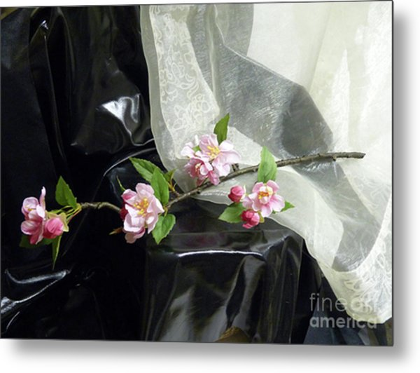 Spring Awakening With Pink Cherry Blossoms Metal Print