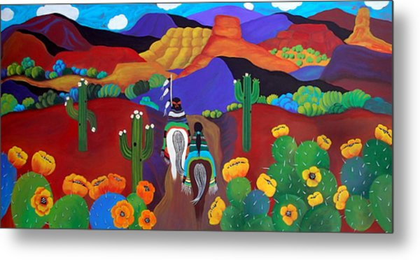Metal Print featuring the painting Spring Bride by Jan Oliver-Schultz