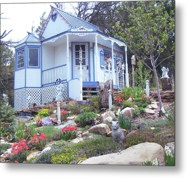 Spring Cottage Metal Print by P Maure Bausch