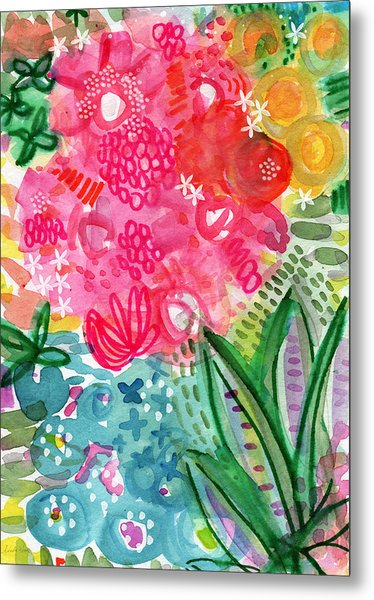Spring Garden- Watercolor Art Metal Print