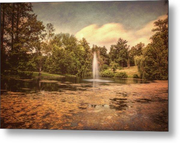 Spring Grove Water Feature Metal Print
