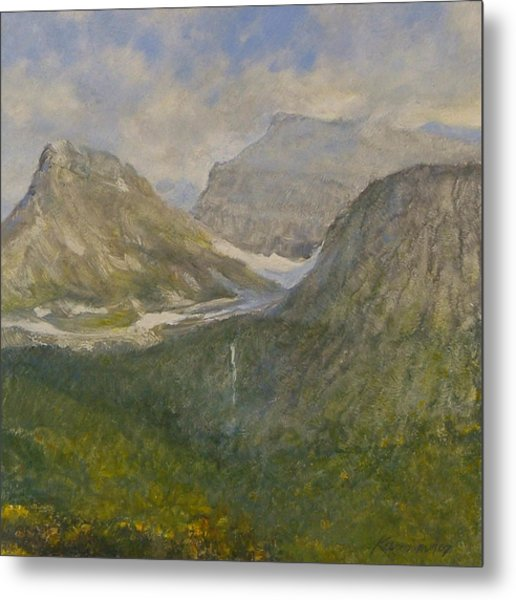 Spring In Glacier National Park Metal Print by Gary Kaemmer