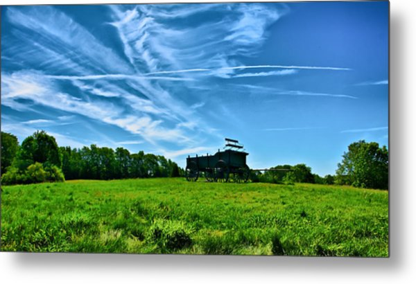Spring Landscape In Nh 4 Metal Print by Edward Myers