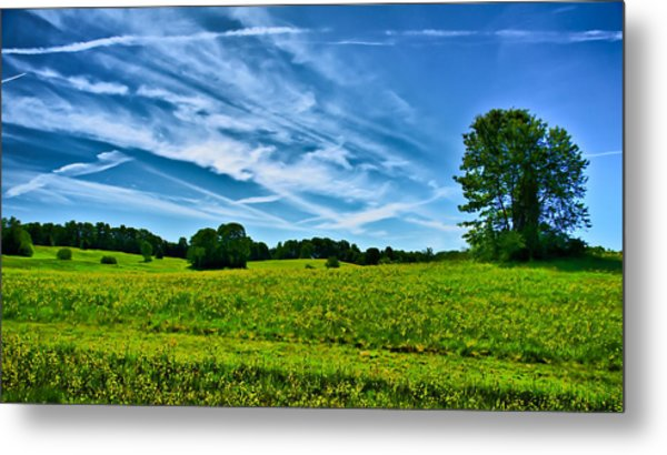 Spring Landscape In Nh Metal Print by Edward Myers