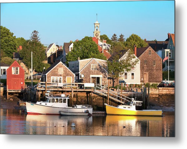 Spring Morning In Portsmouth South End Metal Print by Eric Gendron
