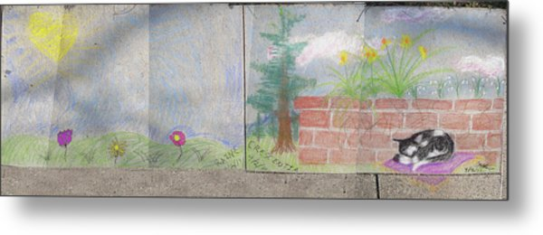 Spring Mural Metal Print by Crescentia Mello and Raine Schmitt