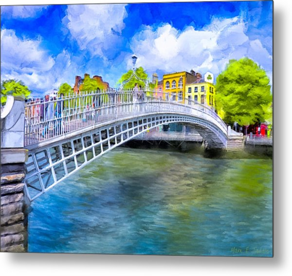Spring On The Liffey - Historic Dublin Metal Print