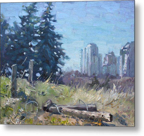 Spring Over The Hills Metal Print