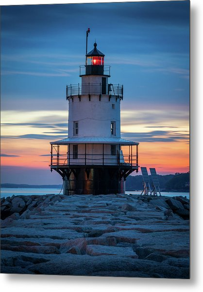 Spring Point Ledge Light Blue Hour II Metal Print