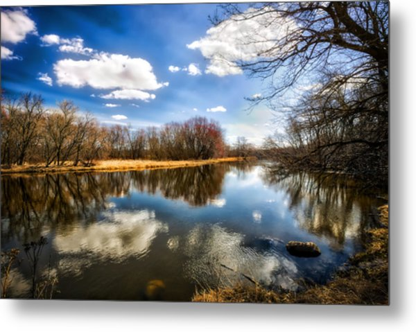 Spring Reflection - Wisconsin Landscape Metal Print