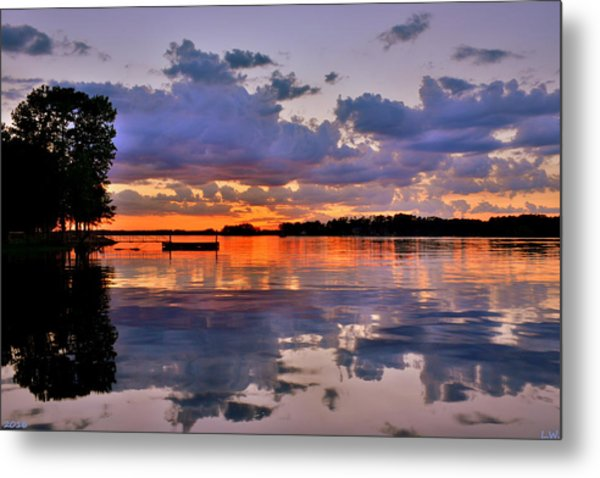 Metal Print featuring the photograph Spring Reflections by Lisa Wooten