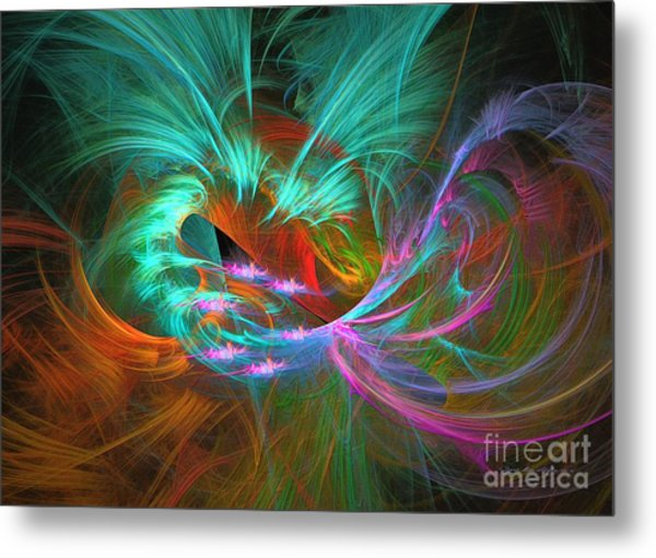 Spring Riot - Abstract Art Metal Print