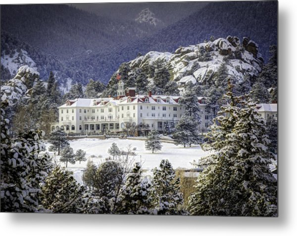Spring Snow At The Stanley Metal Print