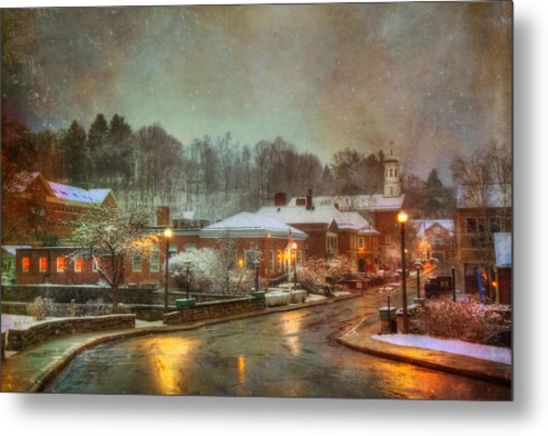 Spring Snow In Peterborough Nh Metal Print