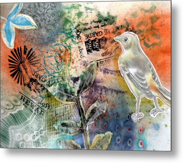Metal Print featuring the mixed media Spring Song by Rose Legge