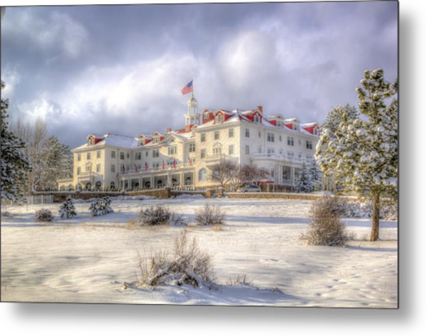 Spring Storm At The Stanley Hotel Metal Print