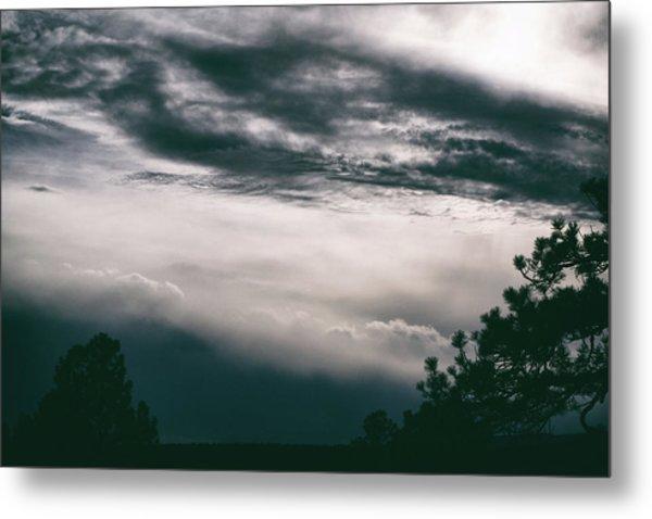 Spring Storm Cloudscape Metal Print