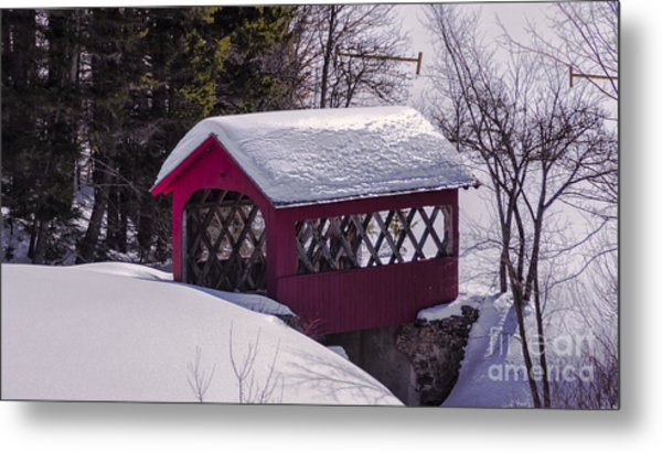 Spring Time At Vergennes Falls. Metal Print