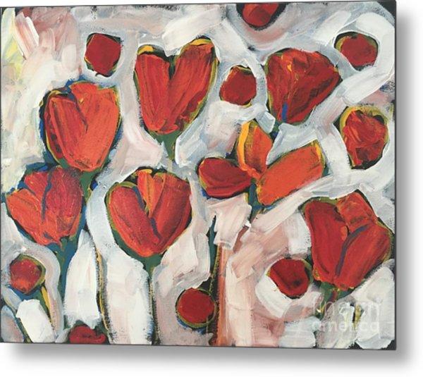Spring Tulip Garden Metal Print