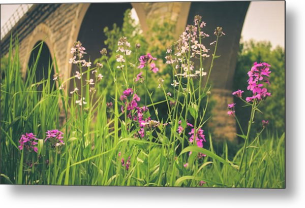 Spring Under The Arches Metal Print