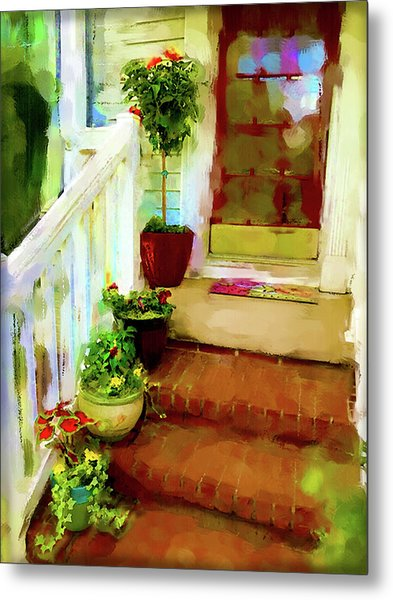 Spring Welcome Metal Print
